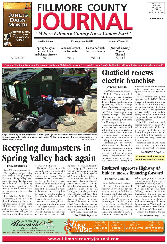 Fillmore County Journal 6214 By Jason Sethre Issuu