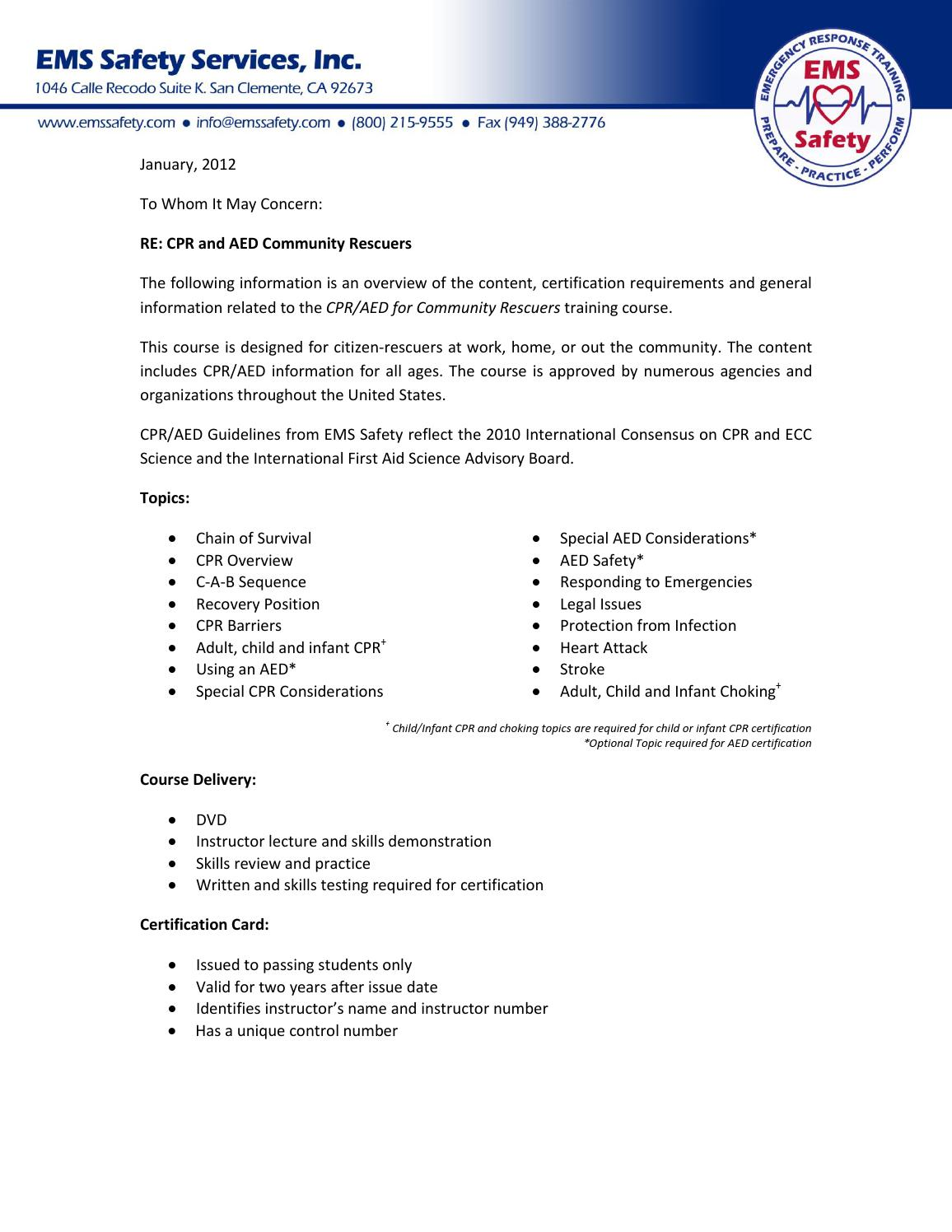 Program Overviewcommunity Cpr Aedg201003 12 By Basmulder Issuu
