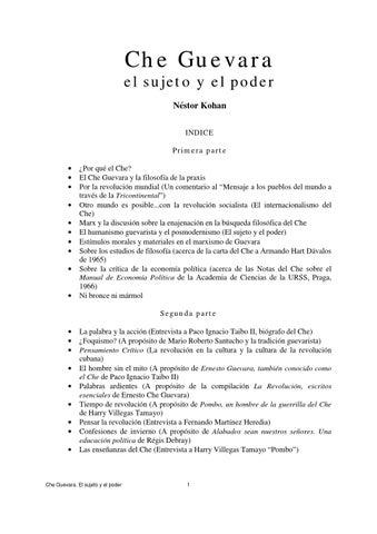 ed6531fada9a8 Che guevara by Escuela de Derechos Humanos para la Convivencia ...