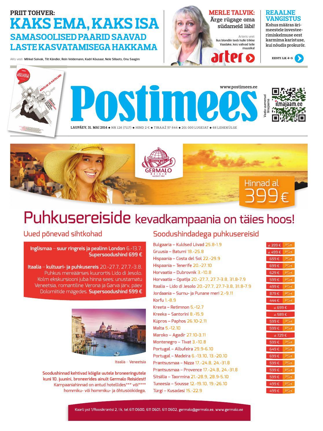 ef1d115012f Postimehe paberleht 31 05 2014 by Postimees - issuu