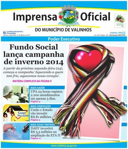 3bc26ea4571 Imprensa Oficial do município de Valinhos - Edição 1391 by ...
