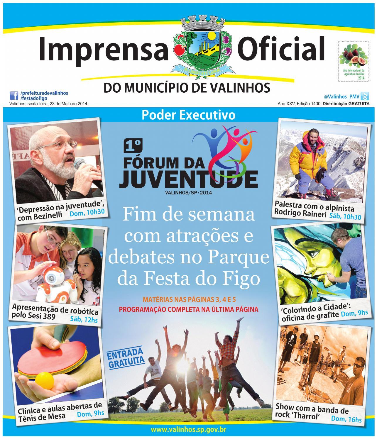 Imprensa Oficial do município de Valinhos - Edição 1400 by Prefeitura de  Valinhos - issuu 6acc7042d5