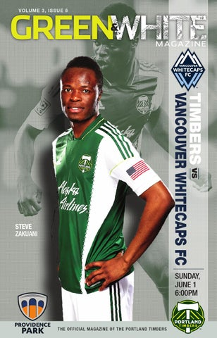 low priced 4d7ec 68057 Green   White Magazine   Portland Timbers vs. Vancouver Whitecaps - June 1,  ...