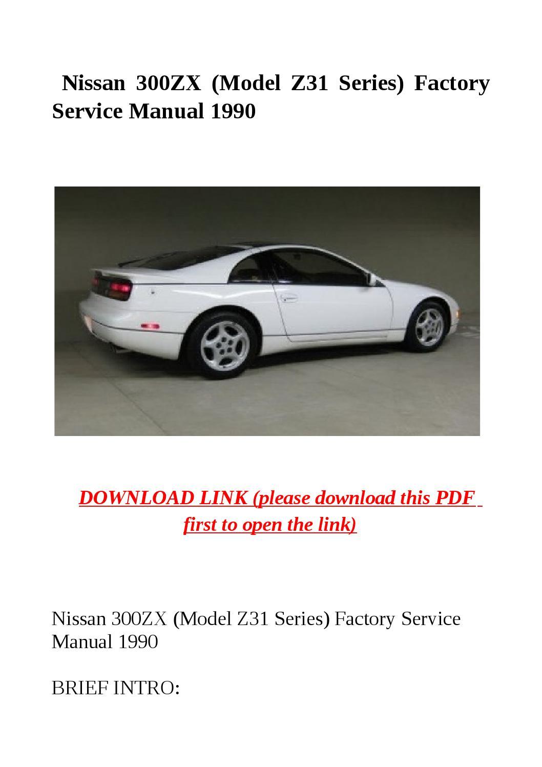 Nissan 300zx (model z31 series) factory service manual 1990 by Jacky Dean -  issuu