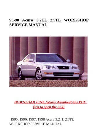 95 98 acura 3 2tl 2 5tl workshop service manual by jacky dean issuu rh issuu com 1998 Acura CL 3.0 MPG 1998 Acura CL Problems