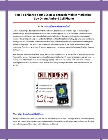 Secretly Spy on Someone's Cell Phone - VisiHow