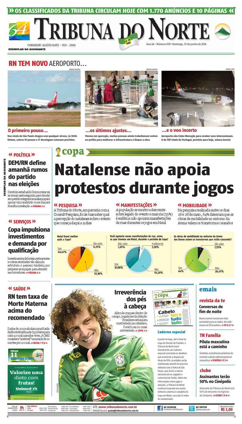 Tribuna do Norte - 01 06 2014 by Empresa Jornalística Tribuna do Norte Ltda  - issuu ccf5febc2d