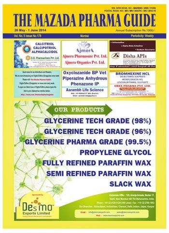The Mazada Pharma Guide 26th May 1st June 2014