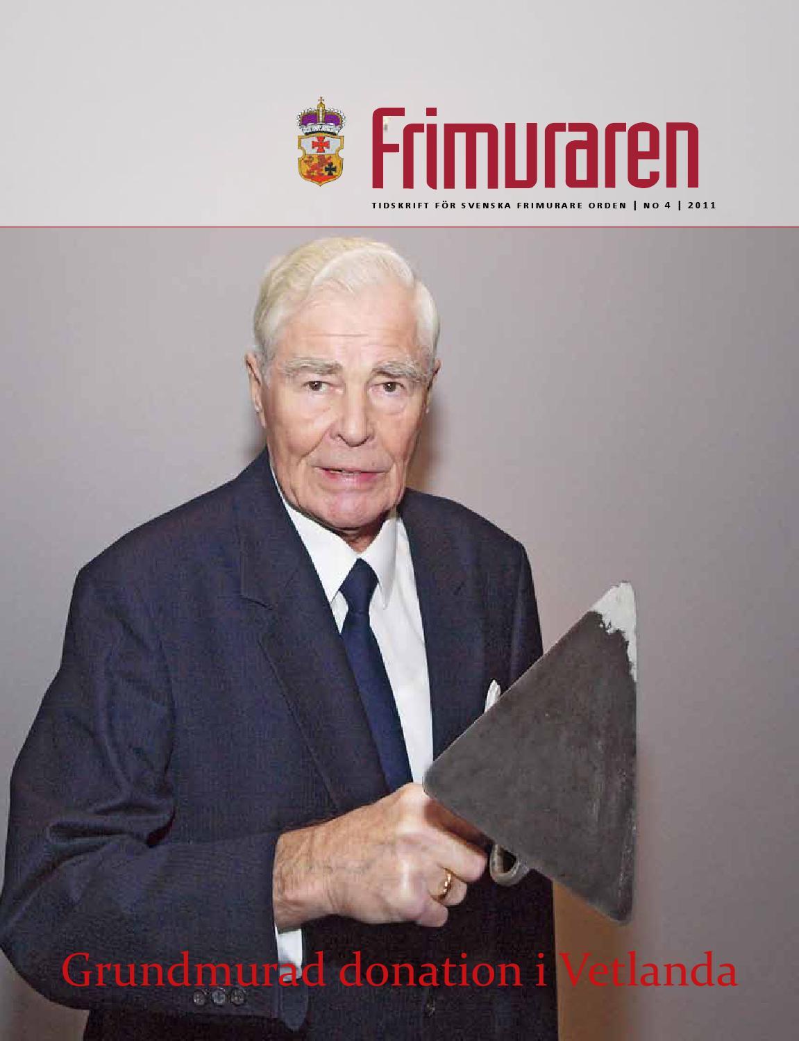 Frimuraren nummer 4 2011 by Svenska Frimurare Orden - issuu 47048af47216c