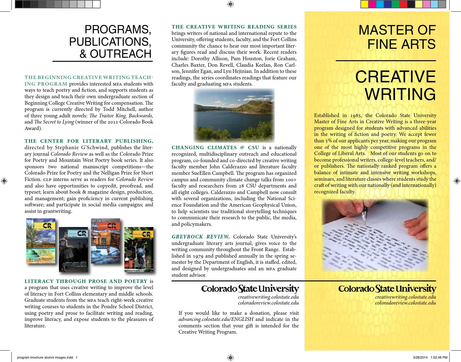 mfa creative writing rankings 2014