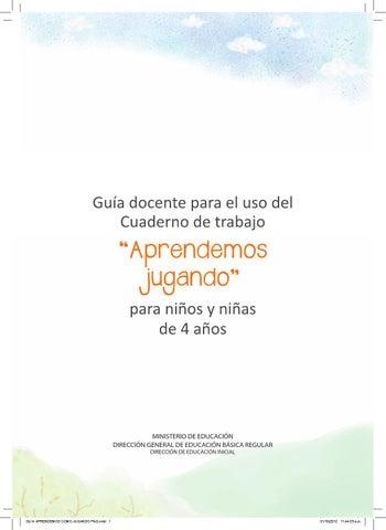 Guia cuaderno de trabajo 4 anos by César Tafur Ruiz - issuu