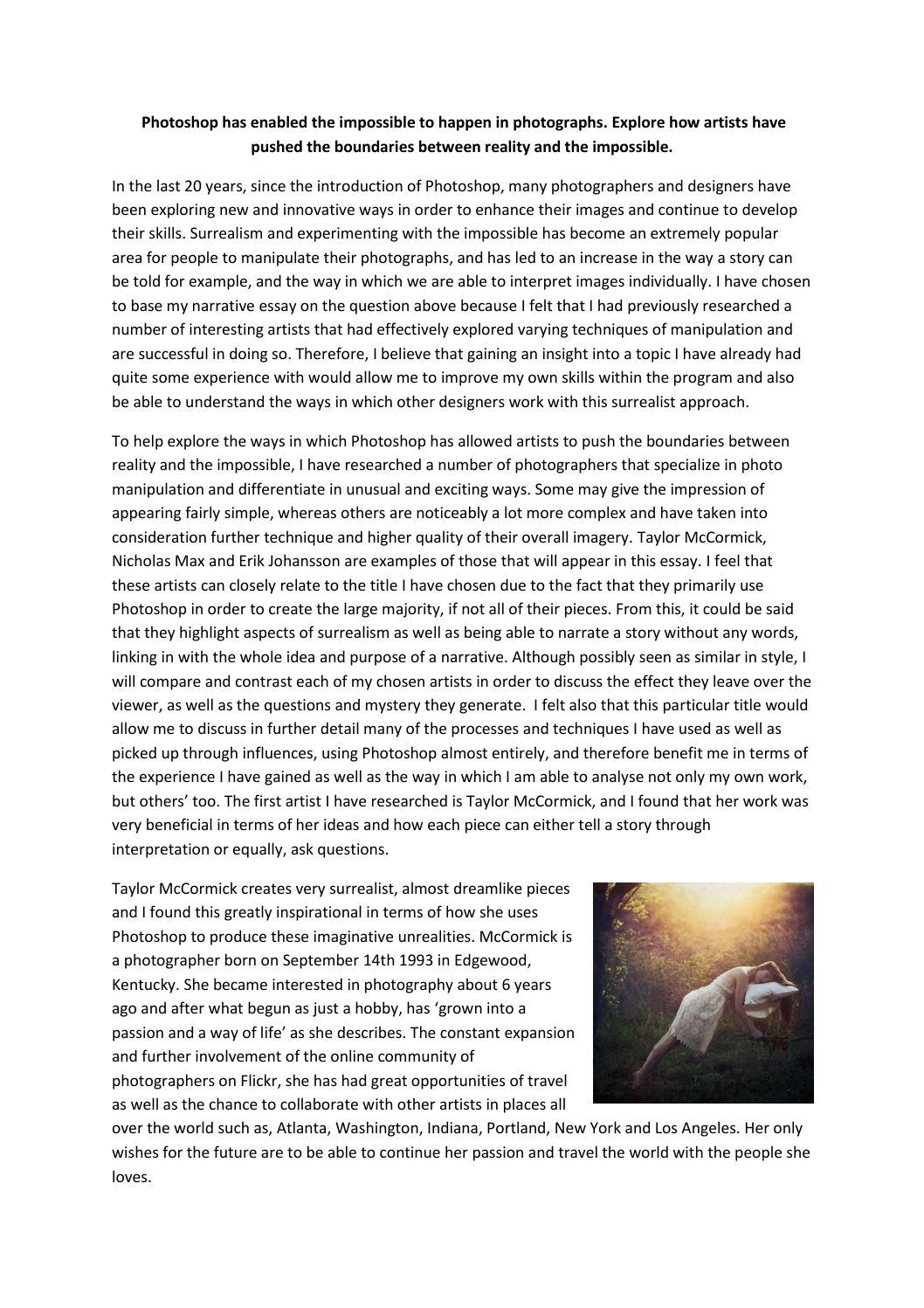 Proper college essay cover page