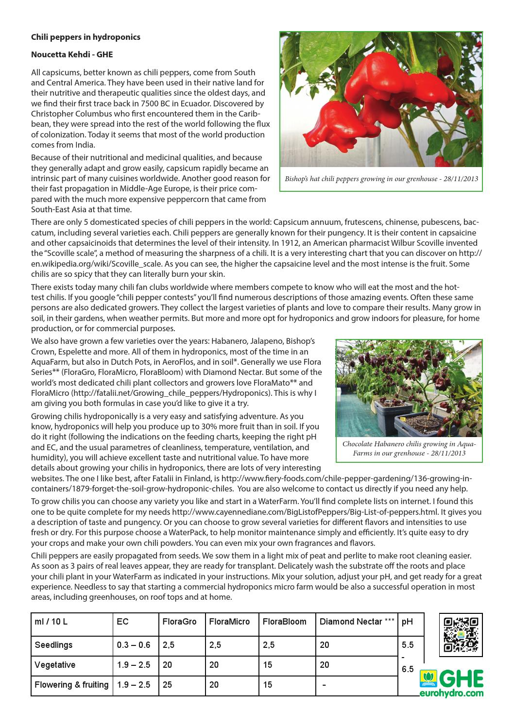 Hydro and chili peppers gb by General Hydroponics Europe - issuu