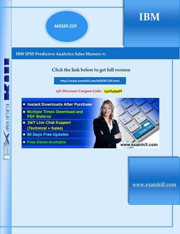 M2020 229 latest ibm certification examkill (pdf demo) by