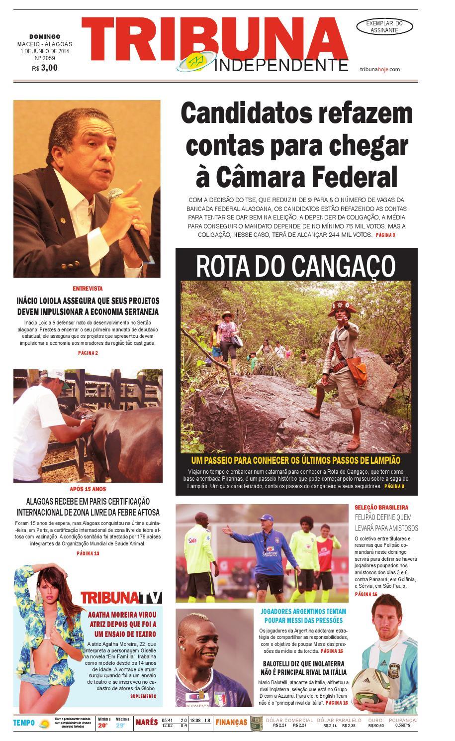 7121609e455 Edição número 2059 - 01 de junho de 2014 by Tribuna Hoje - issuu