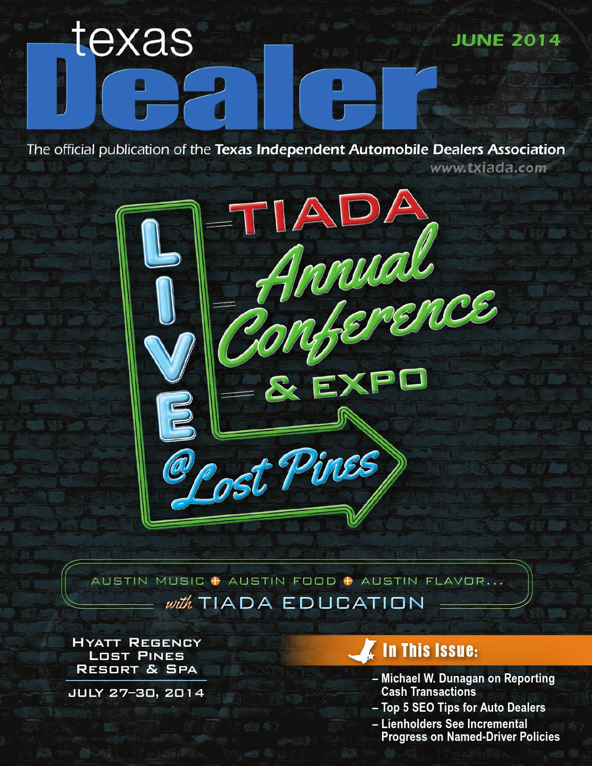 Texas dealer june 2014 by texas independent auto dealers for Subaru motors finance c o chase