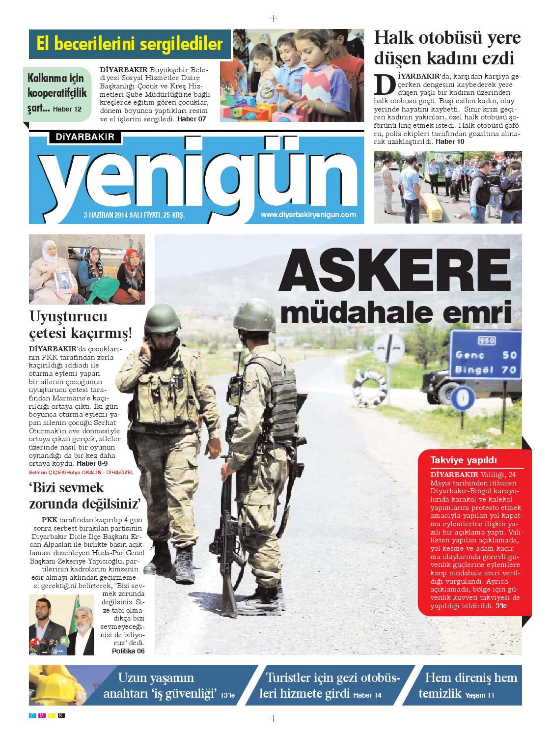 Diyarbakir Yenigun Gazetesi 3 Haziran 2014 By Osman Ergun Issuu