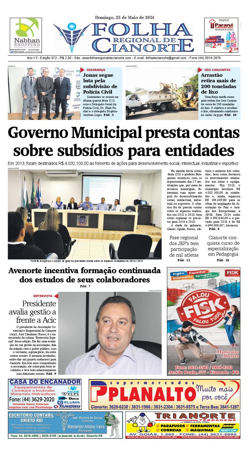 deb92b6dd9 Folha Regional de Cianorte - Edição 972 by Folha Regional de Cianorte -  issuu