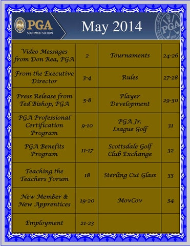 May Update by Southwest Section PGA - issuu