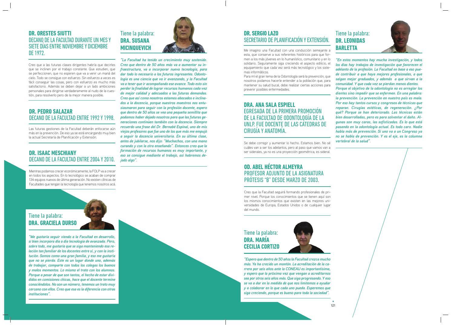 Libro 50 años Facultad de Odontología de la UNLP by Aval ...