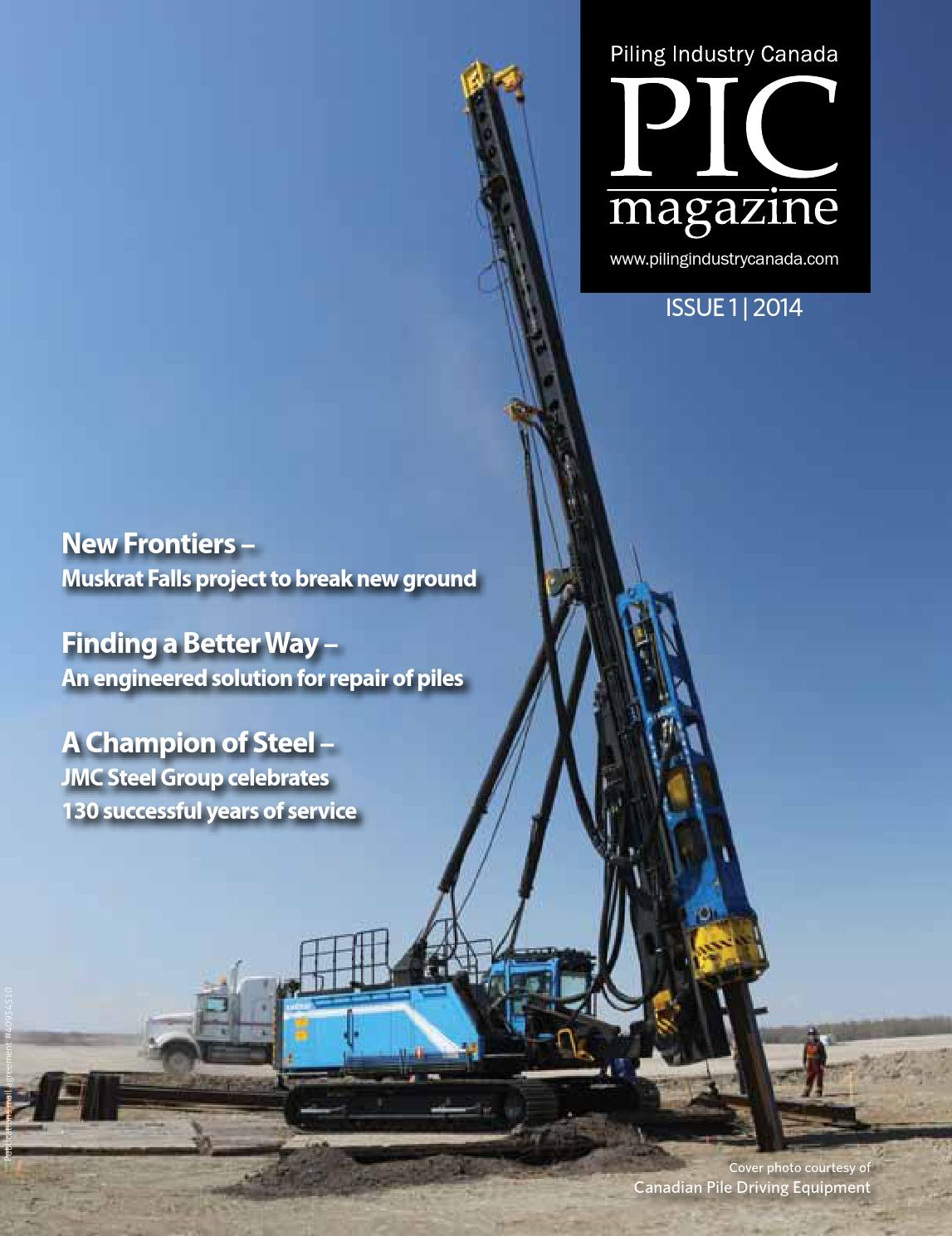 Piling Industry Canada Issue 1, 2014 by DEL Communications