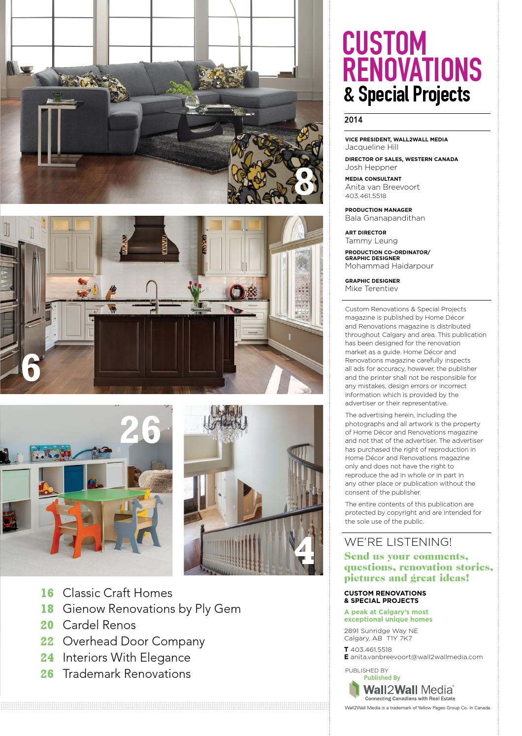 calgary home decor renovations jun jul 2014 by nexthome issuu