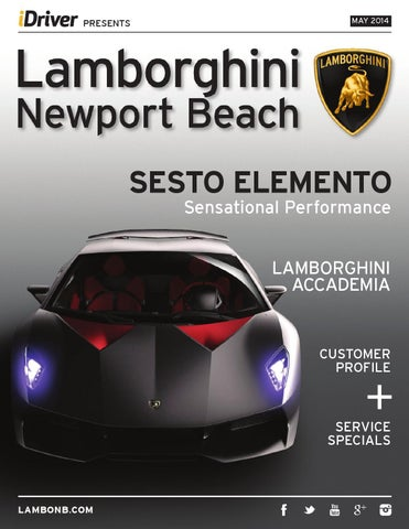 Lamborghini Newport Beach Magazine Issue 5 May 2014