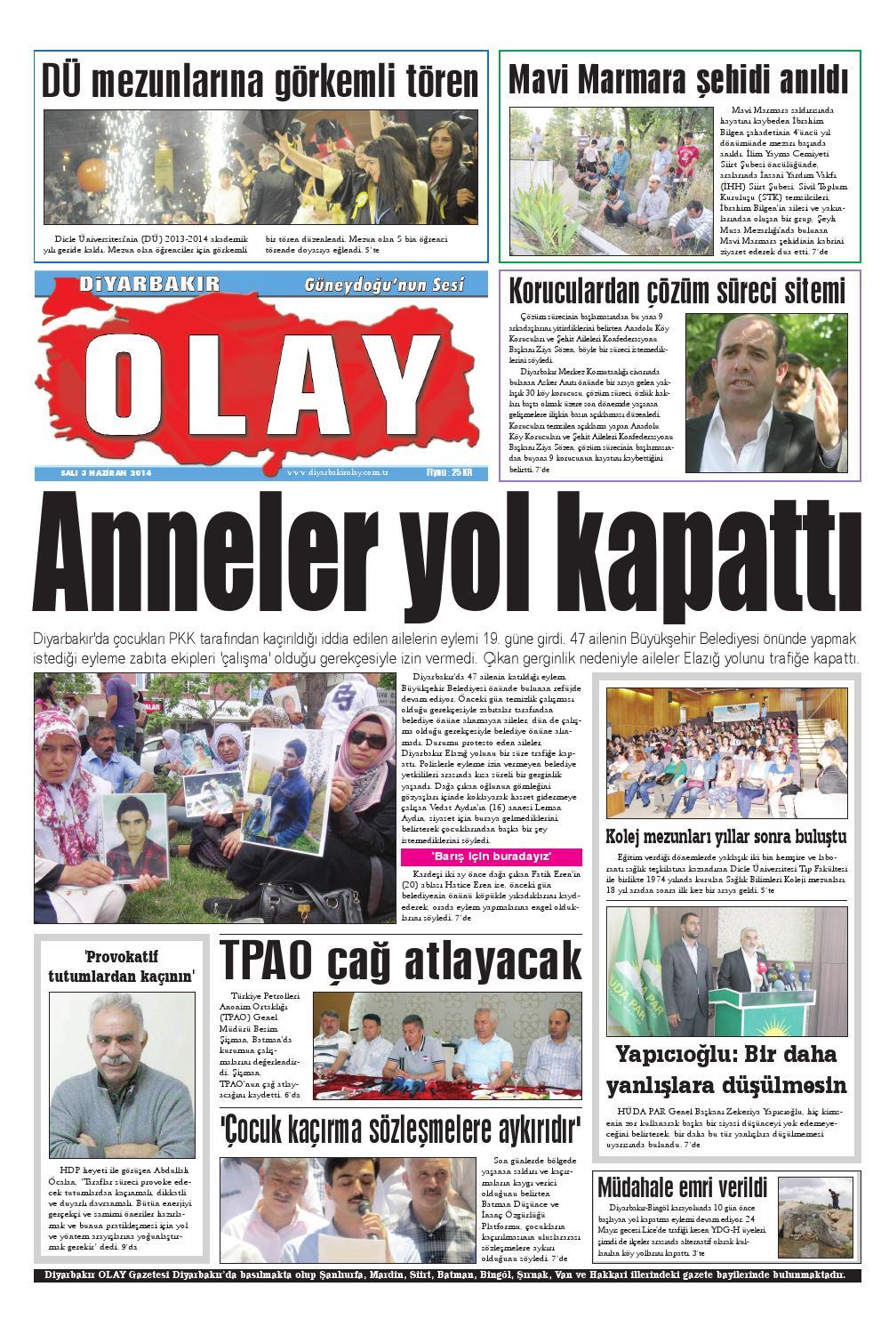 03 06 20014 Gazete Sayfalari By Diyarbakir Olaygazetesi Issuu