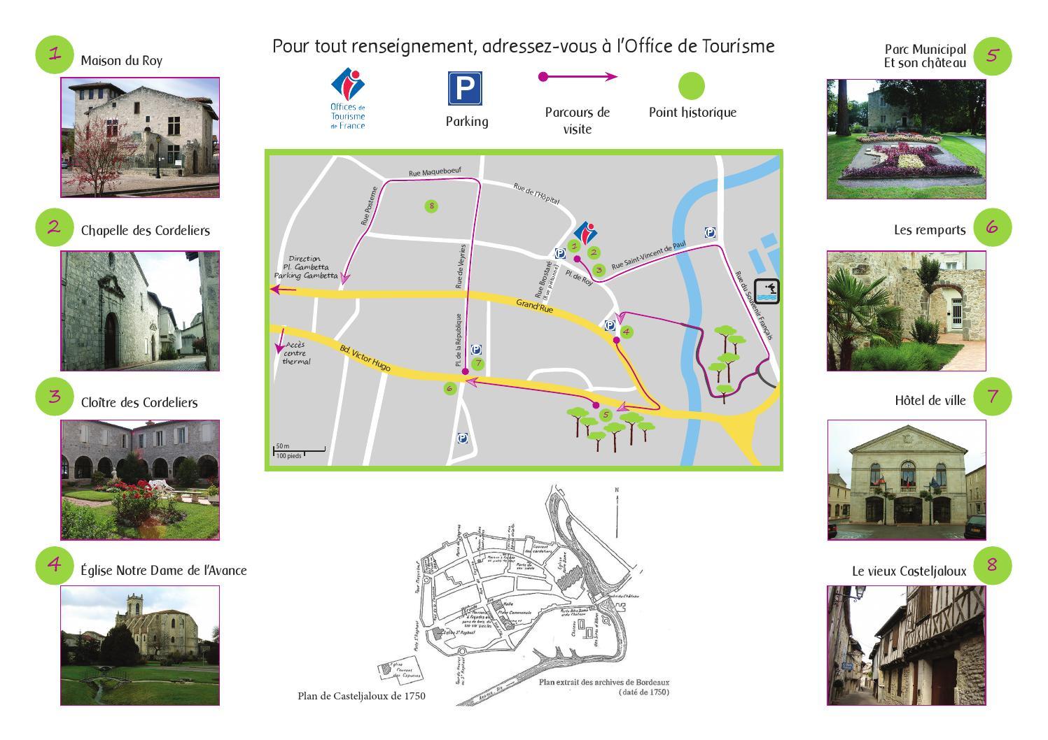 Plan de visite de ville de casteljaloux version - Office tourisme casteljaloux ...
