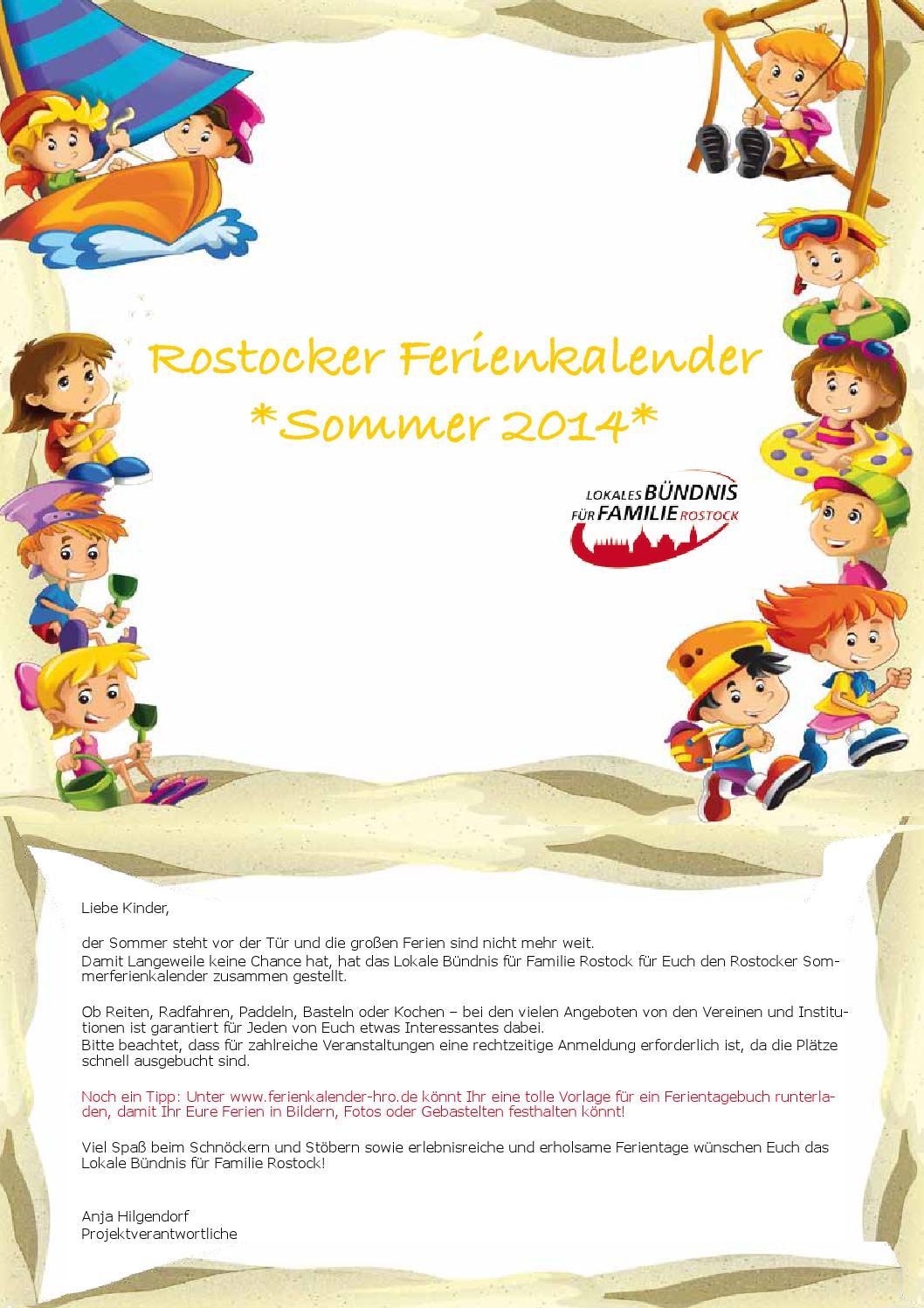 Rostocker Sommerferienkalender 2014 by Kathara - issuu
