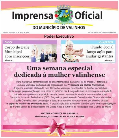 f6f189d1d42ca Imprensa Oficial do município de Valinhos - Edição 1333 by ...