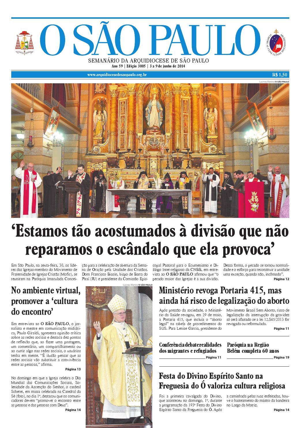 O SÃO PAULO - edição 3005 by jornal O SAO PAULO - issuu 30d9597c52442