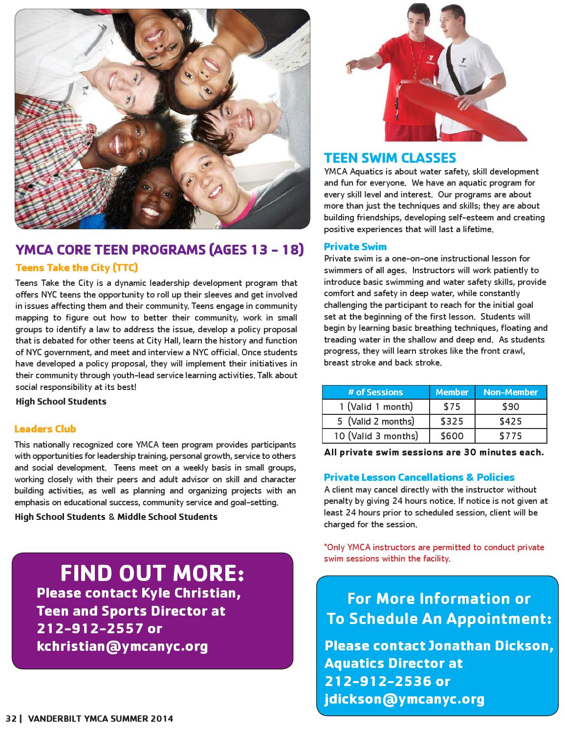 vanderbilt summer 2014 program guide by new york city's ymca - issuu
