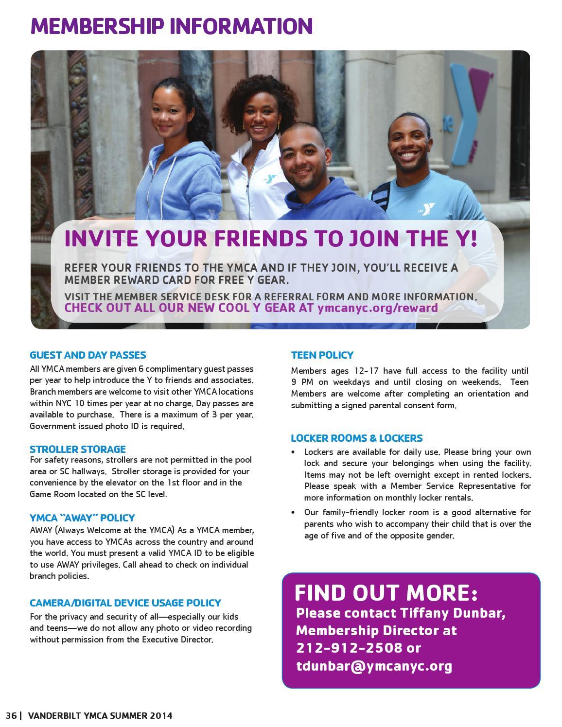 Vanderbilt Summer 2014 Program Guide by New York City's YMCA
