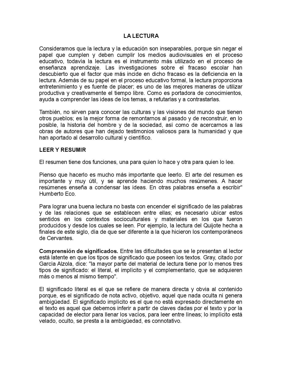 Resumen la lectura by Orlando Cardona Londoño - issuu