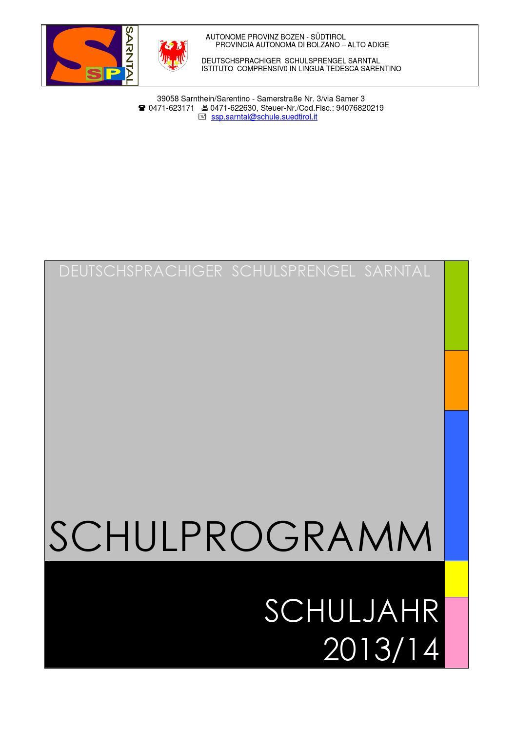 SSP-Sarntal - Schulprogramm 2013-14 by hannes thaler - issuu