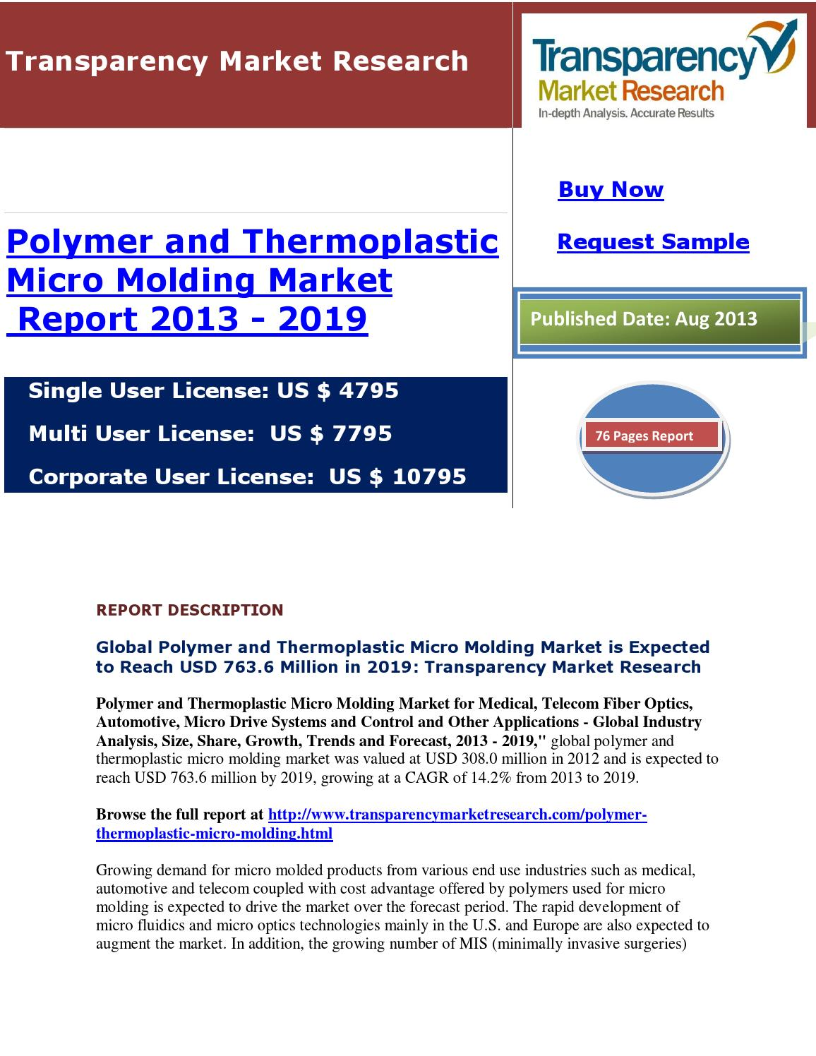 Polymer and thermoplastic micro modling market by
