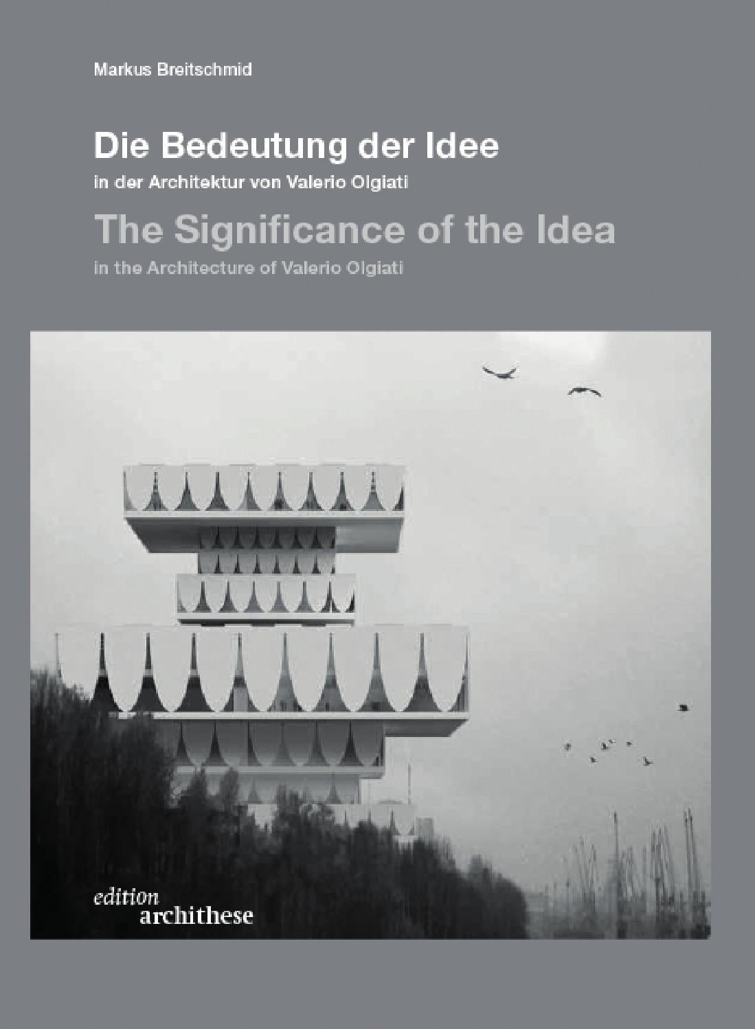edition archithese 4 - Die Bedeutung der Idee / The Significance of ...