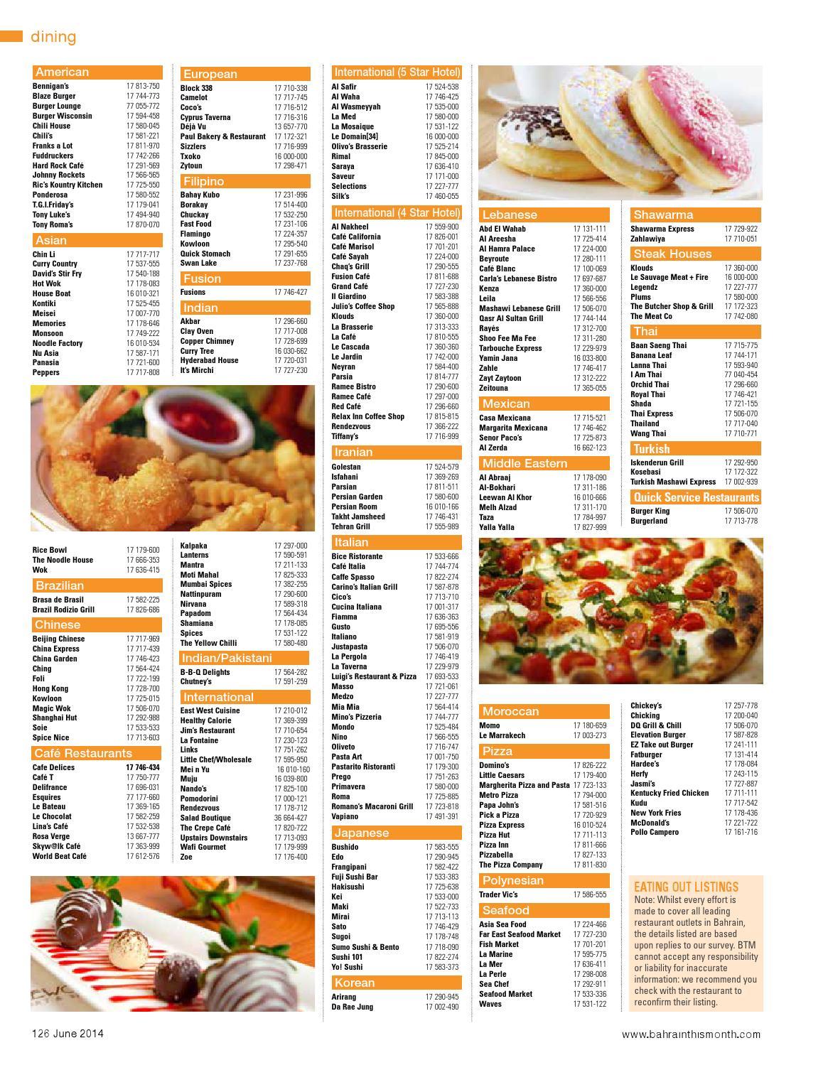 Arirang Restaurant Bahrain Menu