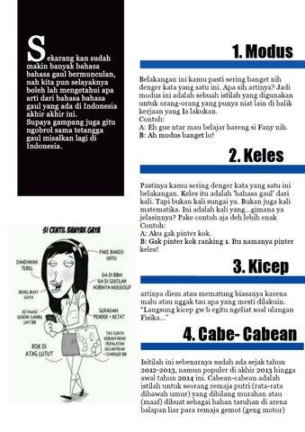 17 Bahasa Gaul Page 1 By Christabel Celia Issuu
