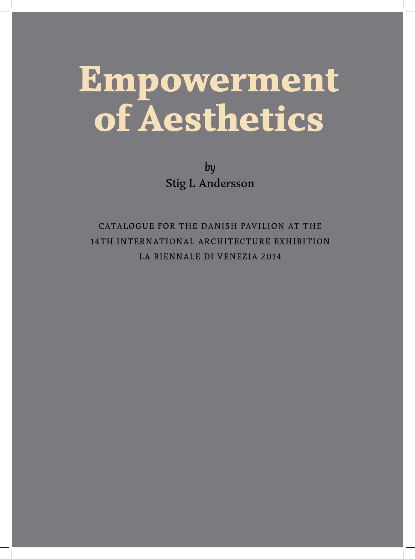 empowerment of aesthetics by sla architects issuu - Ovid Lebenslauf