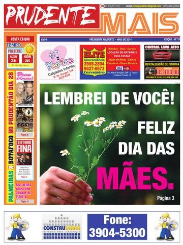 Jornal Prudente Mais  Edição 15  by Prudente Mais - issuu 5d9c586e71