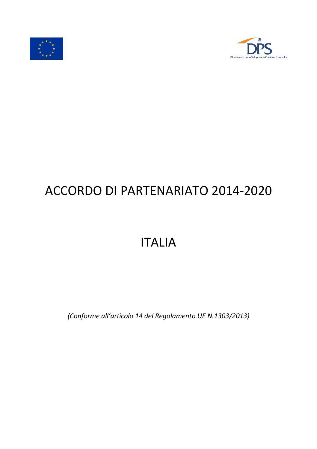 Calendario Pesca Sportiva Fvg 2020.Accordo Di Partenariato Italia Completo 18 04 2014 Finale By