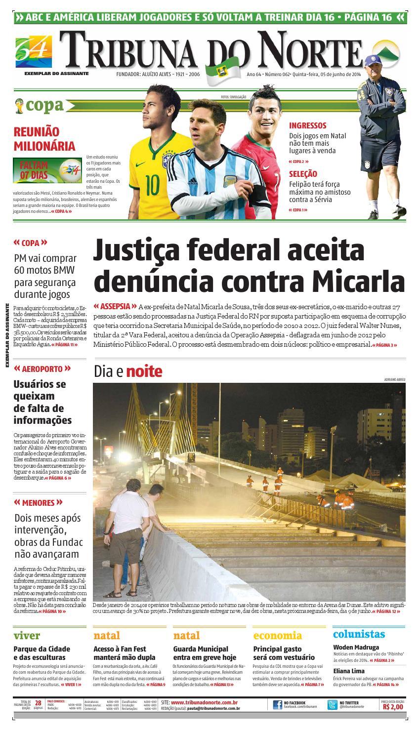 f955758b86 Tribuna do Norte - 05 06 2014 by Empresa Jornalística Tribuna do Norte Ltda  - issuu