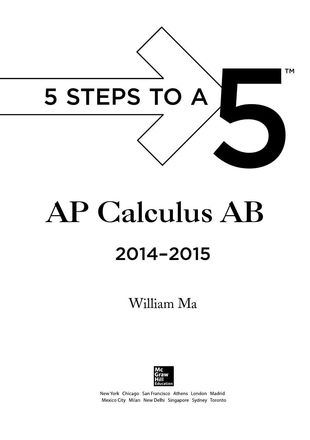 Preview 5 steps to a 5 ap calculus ab by tusachduhoc - issuu