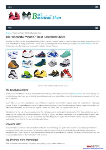 The Wonderful World Of Best Basketball Shoes By Davic14 Issuu