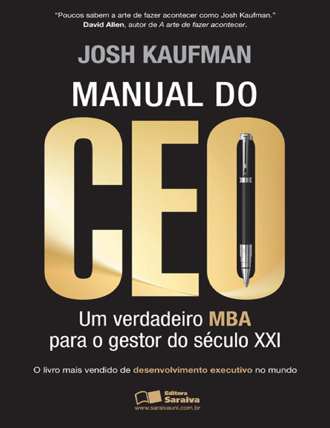 Manual do ceo josh kaufman by rangel renato issuu fandeluxe Choice Image