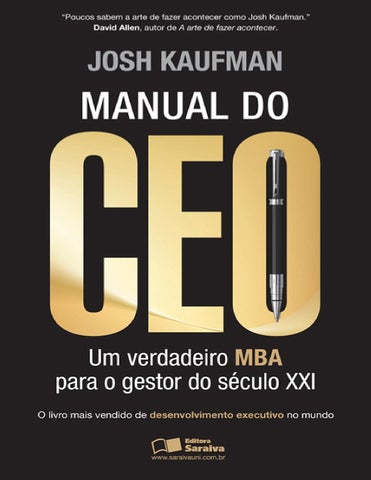 Manual do ceo josh kaufman by rangel renato issuu page 1 fandeluxe Gallery