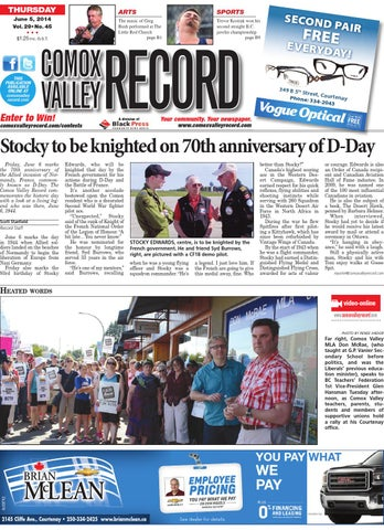 Comox Valley Record June 05 2014 By Black Press Issuu