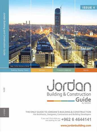 Jordan Building and Construction Guide - 4th issue by SADDA